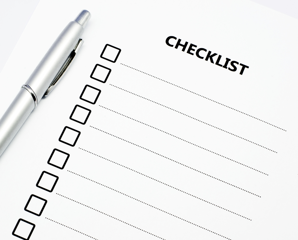 Planning Checklist for Your Success